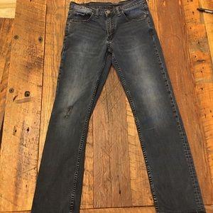 Levi's Dark Wash 514 Denim Jeans Distressed 30x32